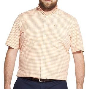 Izod Breeze Short Sleeve Gingham Shirt 4XLT